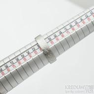 Prima - voda, velikost 62, šířka 5,5 mm, tloušťka 1,4 mm, lept 75% SV, profil C - Damasteen snubní prsteny - sk1975