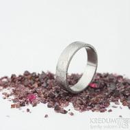 Prima - voda, velikost 62, šířka 5,5 mm, tloušťka 1,4 mm, lept 75% SV, profil C - Damasteen snubní prsteny - sk1975 (5)