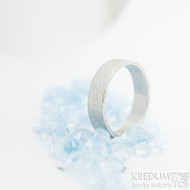 Prima - voda, velikost 62, šířka 5,5 mm, tloušťka 1,4 mm, lept 75% SV, profil C - Damasteen snubní prsteny - sk1975 (3)