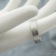 Prima - voda, velikost 62, šířka 5,5 mm, tloušťka 1,4 mm, lept 75% SV, profil C - Damasteen snubní prsteny - sk1975 (2)