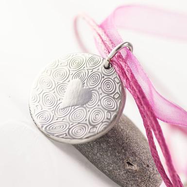 Mikilion a srdce - Přívěsek damasteel