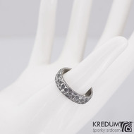 Natura čárky - Snubní prsten nerezová ocel damasteel, S2147