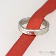 Prsten kovaný nerezová ocel Draill a čirý diamant 1,5 mm - produkt 1671