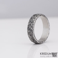 Natura - Snubní prsten nerezová ocel damasteel, S2146