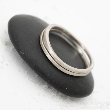 prsten Plain bílé zlato (9)