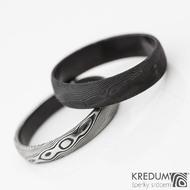 povrch DLC - prsteny damasteel Prima - kompaktní a přebroušený