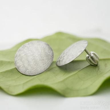 Puklík - Kované damasteel náušnice, SK2892