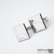 Quatro dent  17,3 x 17,3 mm - Manžetové knoflíčky se stříbrným zapínáním, SK1475 (2)