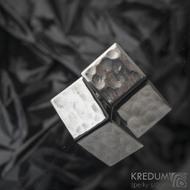 Quatro dent  17,3 x 17,3 mm - Manžetové knoflíčky se stříbrným zapínáním, SK1475 (4)