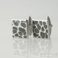 Quatro dent black - Nerezové manžetové knoflíčky - K 2244 (2)