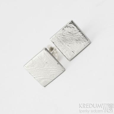 Quatro mini - Kované damasteel náušnice, SK2281 (2)