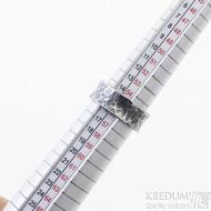Rafael - 55, šířka 7,7 mm, zamtavený - Kovaný nerezový snubní prsten, SK2456