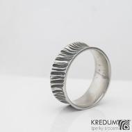 Rafael strukt - Kovaný nerezový snubní prsten, S2237