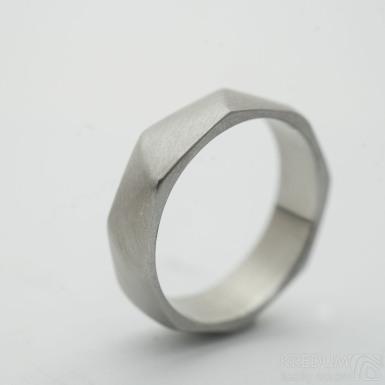 Random matný - Snubní prsten z nerezové oceli