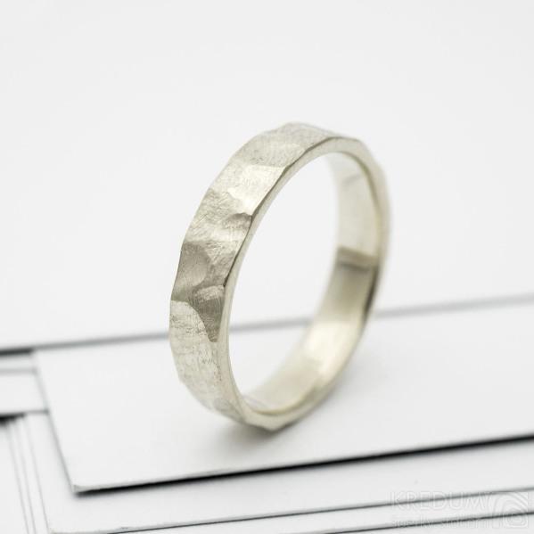 RAW snubní prsten gold white (2)
