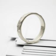 RAW snubní prsten gold white (4)
