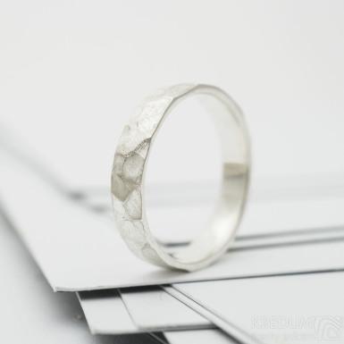 RAW silver stříbrný snubní prsten