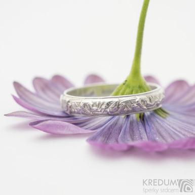 Retro snubní prsten 6 Lípa stříbro