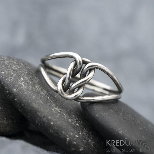 Reverse Silver Patina - Stříbrný prsten, SK1577