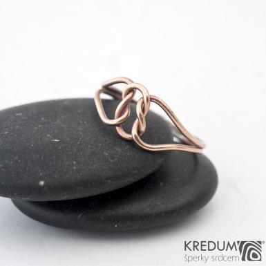Reverse Red - Zlatý snubní prsten