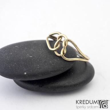Reverse Yellow - Zlatý snubní prsten