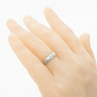 Rocksteel - damasteel snubní prsten, struktura voda - velikost 55; šířka 4,5 mm; tloušťka cca 1,5 mm; lept 75% - světlý - produkt SK2941 - na umělé ruce