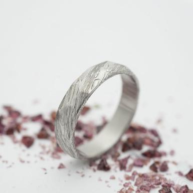 Rocksteel - voda - Snubní prsten damasteel, SK2941