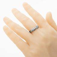 Rocksteel - damasteel snubní prsten, struktura voda - velikost 63, šířka 5,5 mm, tloušťka stěny 1,7 mm, lept 75% - zatmavený - produkt SK2942 - na umělé ruce