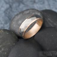 Rocky titan red - vel 63, šířka 6 mm, tloušťka 1,9 mm, červené Au, okraj ehladké 2x0,75, matný - Snubní prsteny - k 1311 (5)