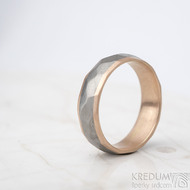 Rocky titan red - vel 63, šířka 6 mm, tloušťka 1,9 mm, červené Au, okraj ehladké 2x0,75, matný - Snubní prsteny - k 1311 (2)