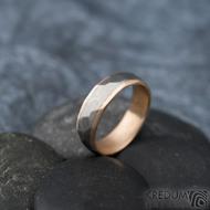 Rocky titan red - vel 63, šířka 6 mm, tloušťka 1,9 mm, červené Au, okraj ehladké 2x0,75, matný - Snubní prsteny - k 1311 (7)