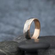 Rocky titan red - vel 63, šířka 6 mm, tloušťka 1,9 mm, červené Au, okraj ehladké 2x0,75, matný - Snubní prsteny - k 1311 (6)