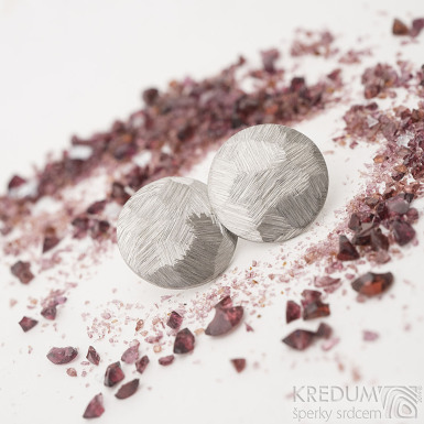 Round scrape - Náušnice z nerezové oceli