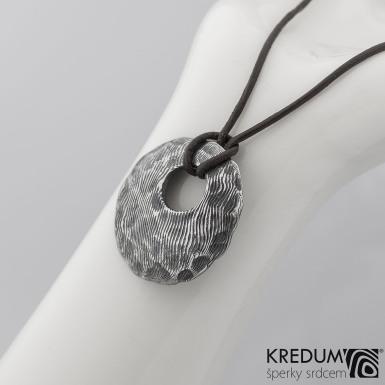 Kovaný damasteel přívěsek - Natura, produkt č. 2106