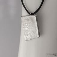 Loper - Kovaný damasteel přívěsek, S1494