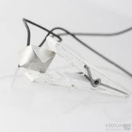 Cubik - Damasteelový přívěsek, S1505