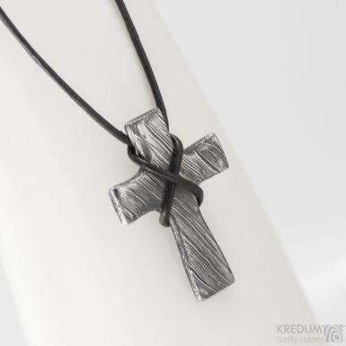 Křížek nerezová ocel damasteel - produkt č. 1507