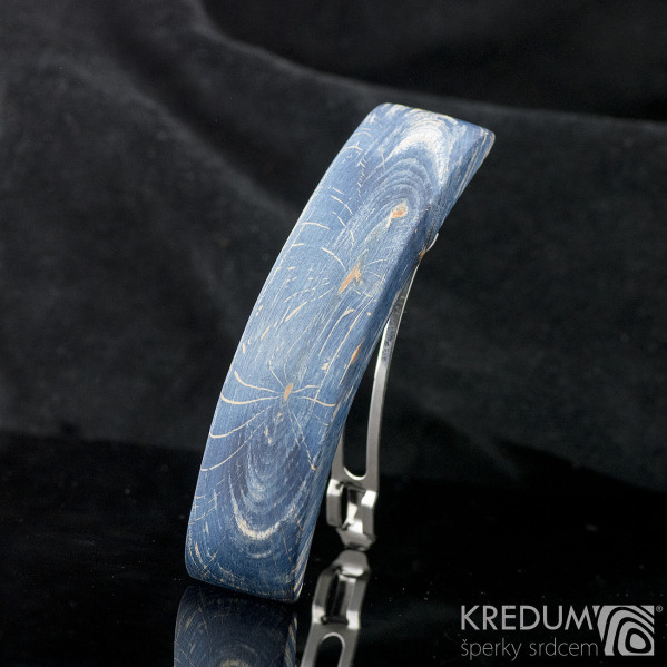 Buk modrý - Ručně vyrobená dřevěná spona, produkt č. 2165