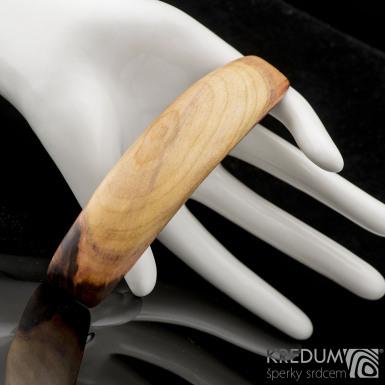 Švestka - Ručně vyrobená dřevěná spona, produkt č. 2167