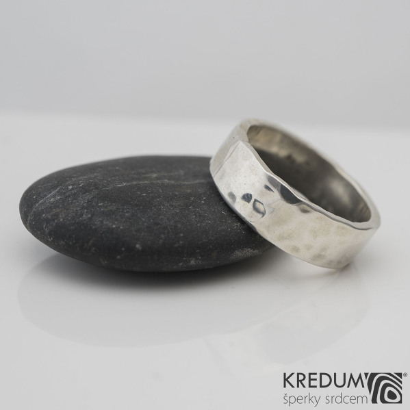 Silver Draill - Stříbrný snubní prsten, S2227
