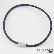 Samuel náhrdelník černý - Damasteel korálek, sk1206 (3)