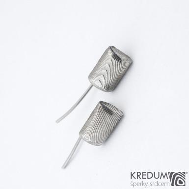 SEEK mini - Kované damasteel náušnice, SK1344