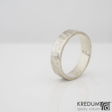 Silver Draill - Stříbrný snubní prsten, S2228