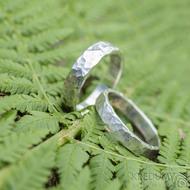 Silver draill lesklý - oba velikost 61, šířka 4 mm a 5 mm, tloušťka střední - Stříbrné snubníprsteny - k 1797 (5)