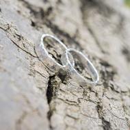 Silver draill lesklý - oba velikost 61, šířka 4 mm a 5 mm, tloušťka střední - Stříbrné snubníprsteny - k 1797 (4)