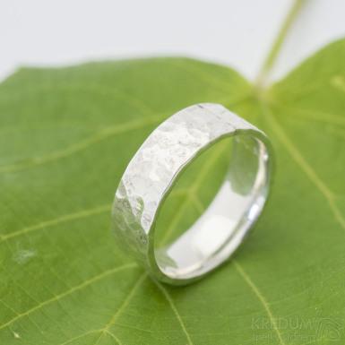 Silver Draill lesklý - Stříbrný snubní prsten, velikost 58, šířka 7 mm, tloušťka stěny 1,7 mm - produkt SK2882