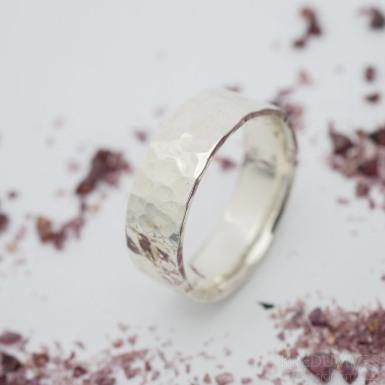 Silver Draill - lesklý - Stříbrný snubní prsten, velikost 59, šířka 7 mm, tloušťka 1,7 mm - produkt SK2885
