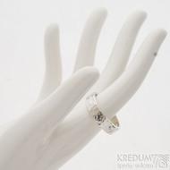 Silver draill lesklý - velikost 66, šířka 6 mm, tloušťka střední - Tepaný stříbrný prsten, k 2709