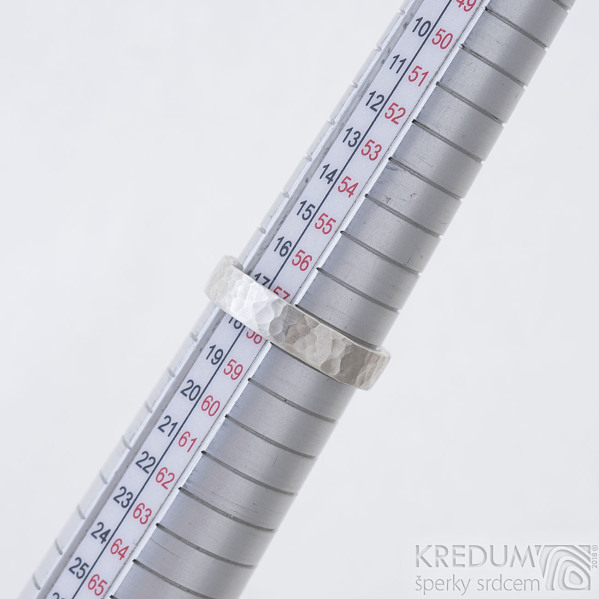 Silver Draill matný - Stříbrný snubní prsten, produkt SK2350 - velikost 58 / 4,5 mm