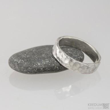 Silver Draill - Stříbrný snubní prsten, S1458